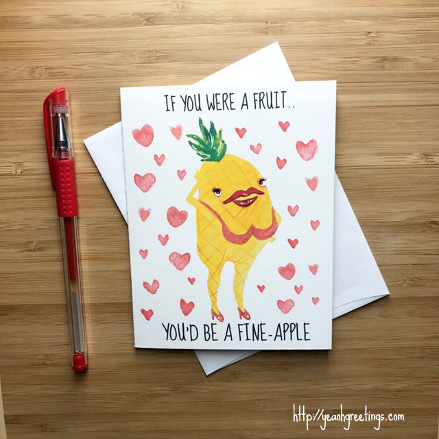 Funny Fineapple Pun Card