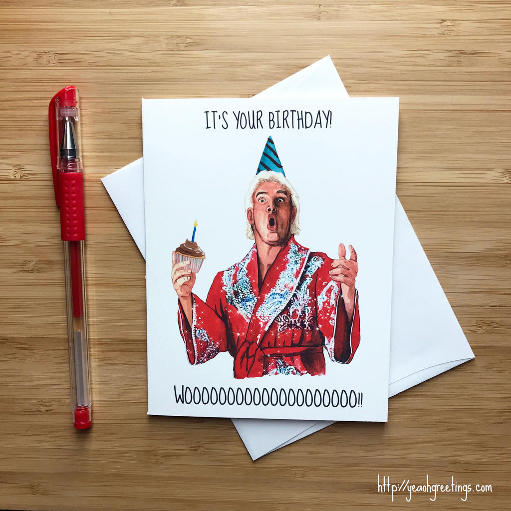 Ric Flair wwf Birthday Card