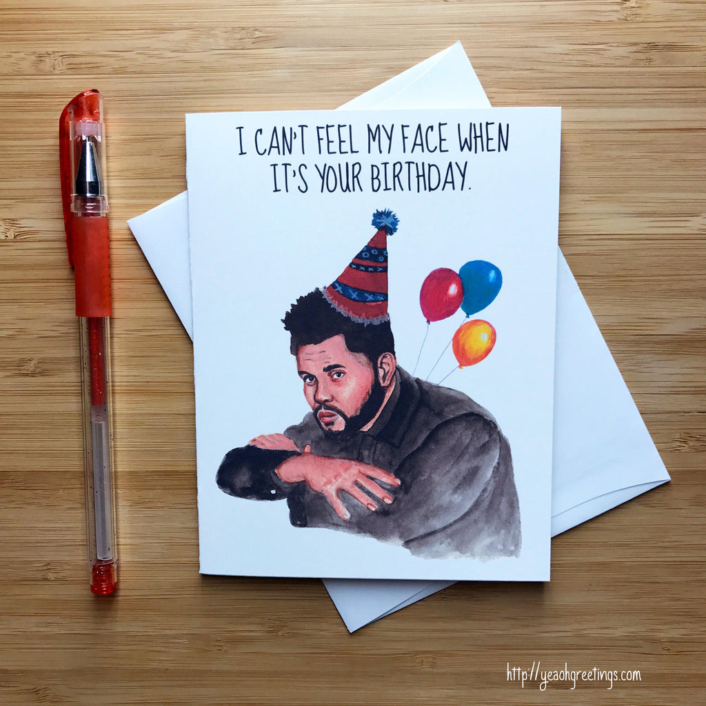 The Weeknd Birthday Card