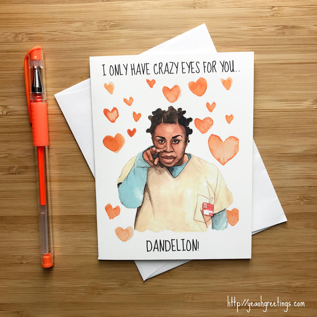Orange is the New Black Love Card