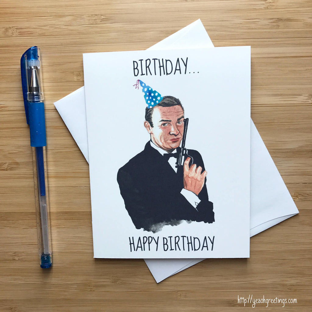 james bond Birthday Greeting Card