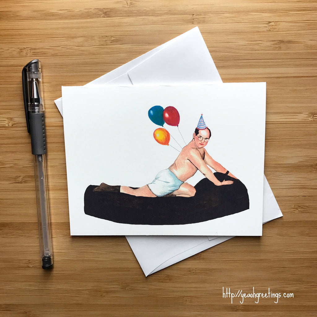 George costanza Birthday Greeting Card