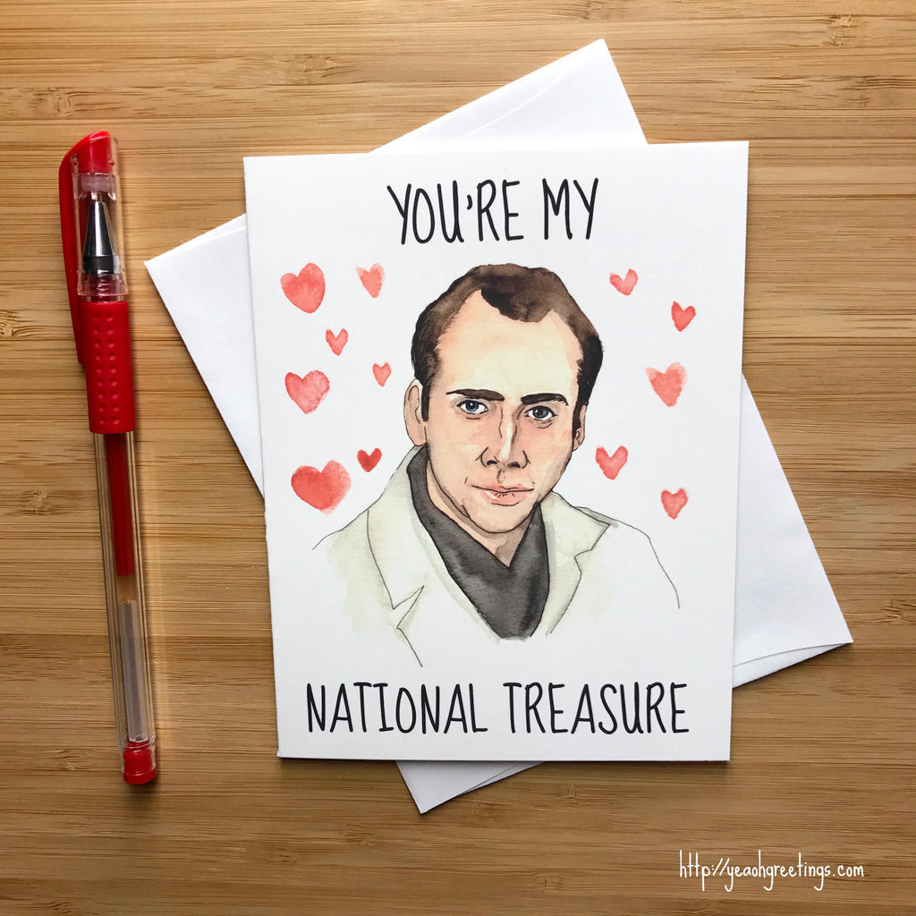 Nicolas cage national treasure card