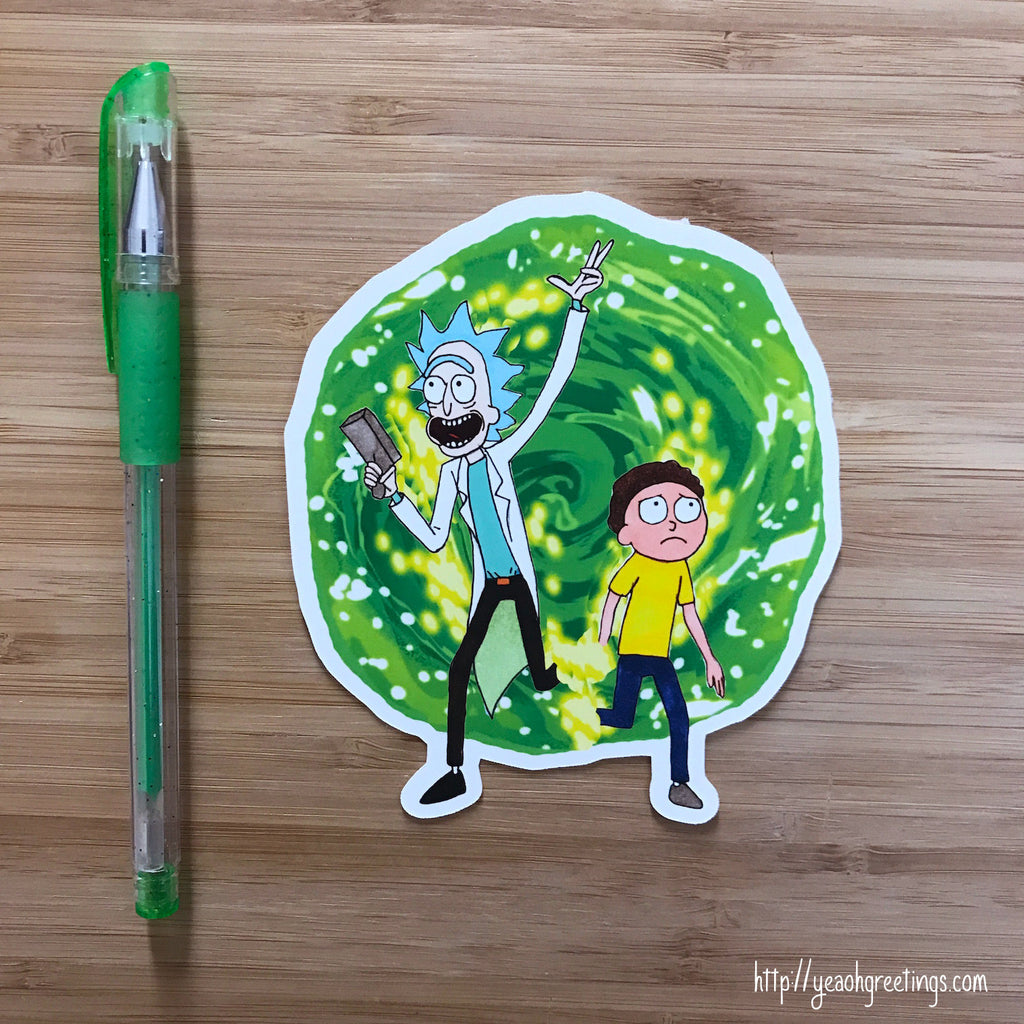 Rick and Morty Vinyl Sticker