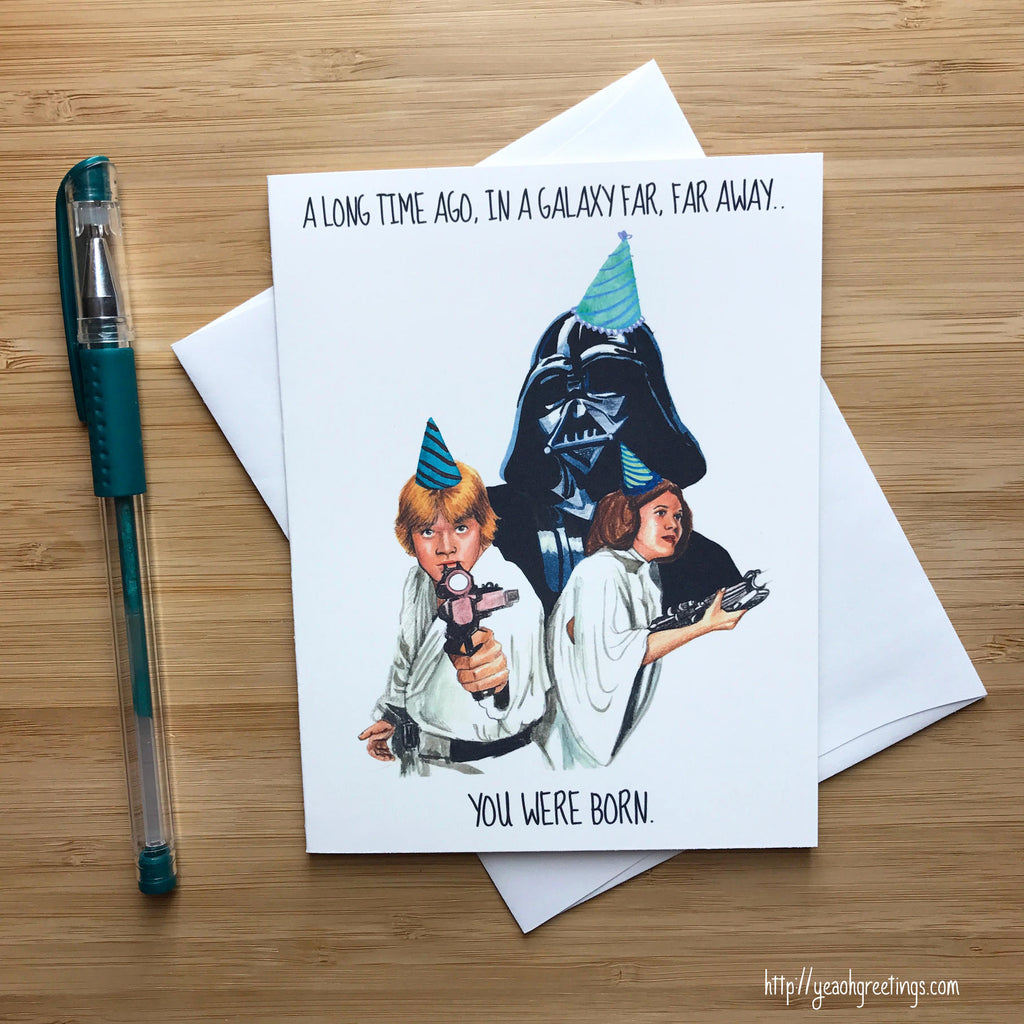 Star Wars The Force Awakens Birthday Card