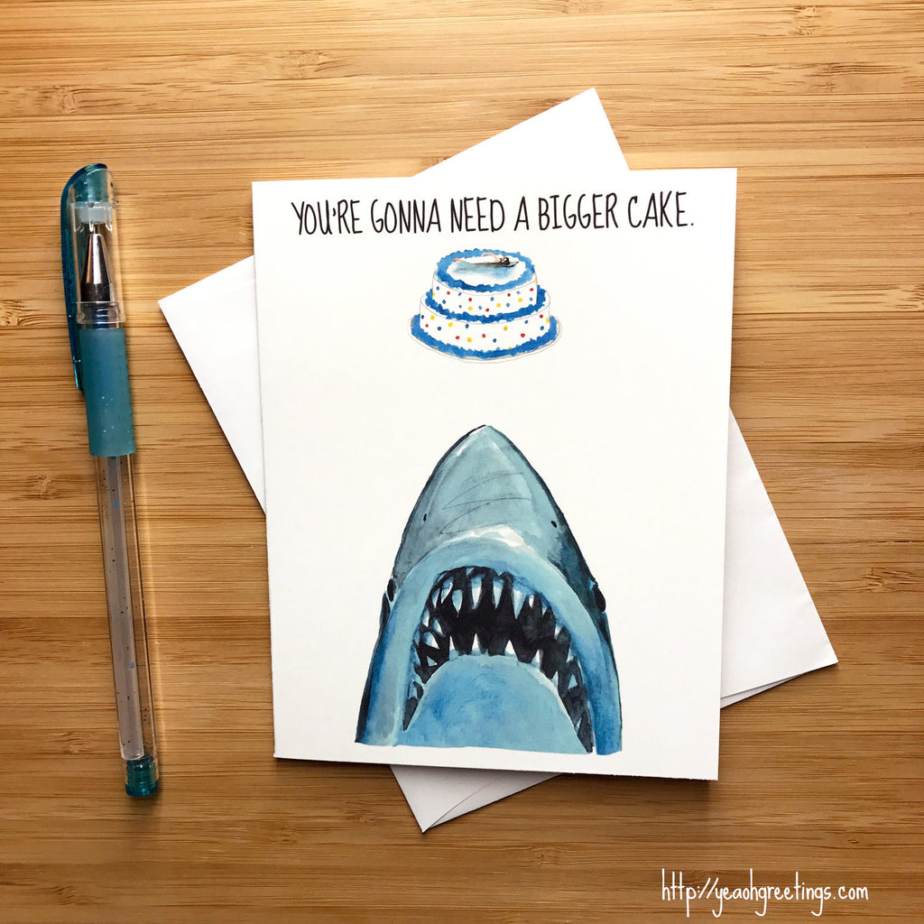 jaws movie Birthday Greeting Card