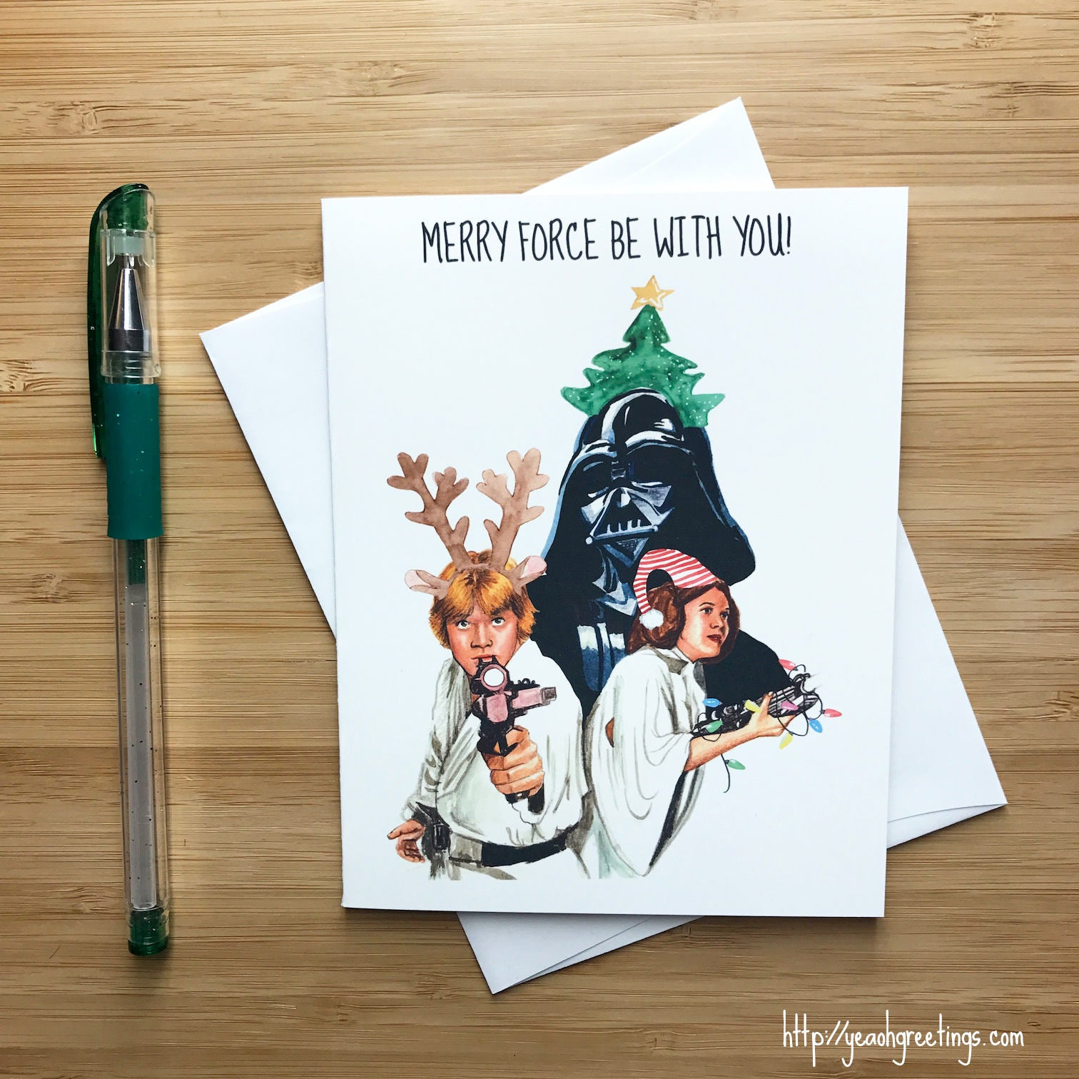 cute star wars christmas card