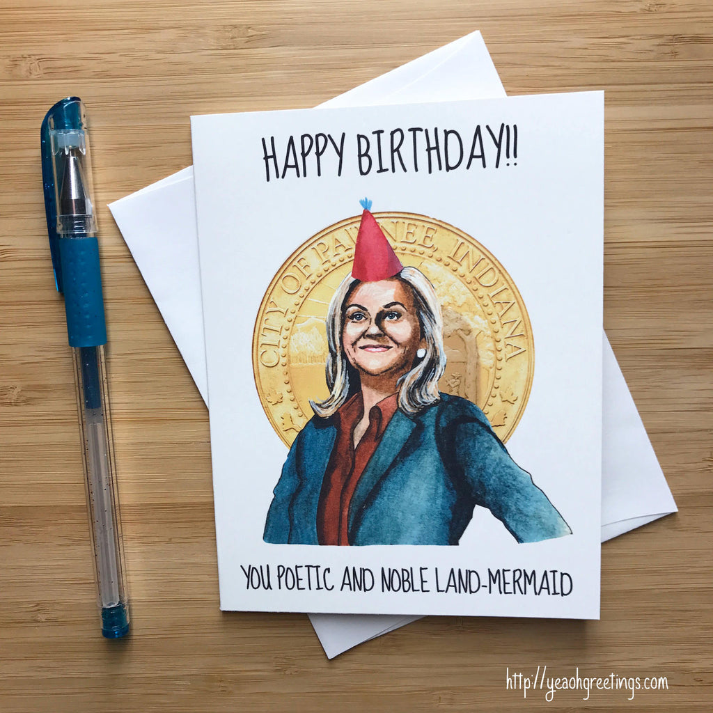 leslie knope Birthday Greeting Card