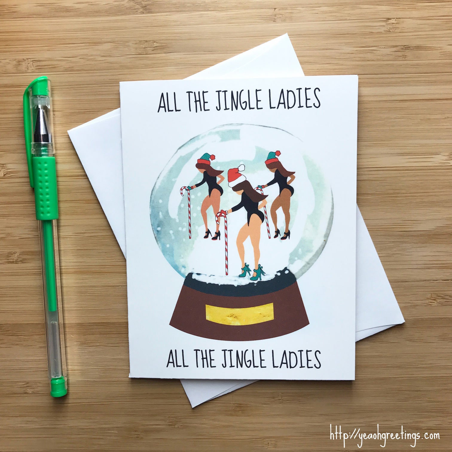 Funny Christmas Card Messages.All The Jingle Ladies Christmas Card