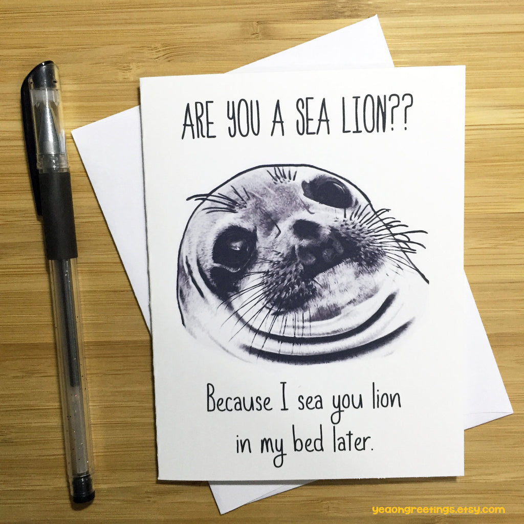 Funny Sea Lion Pun Card