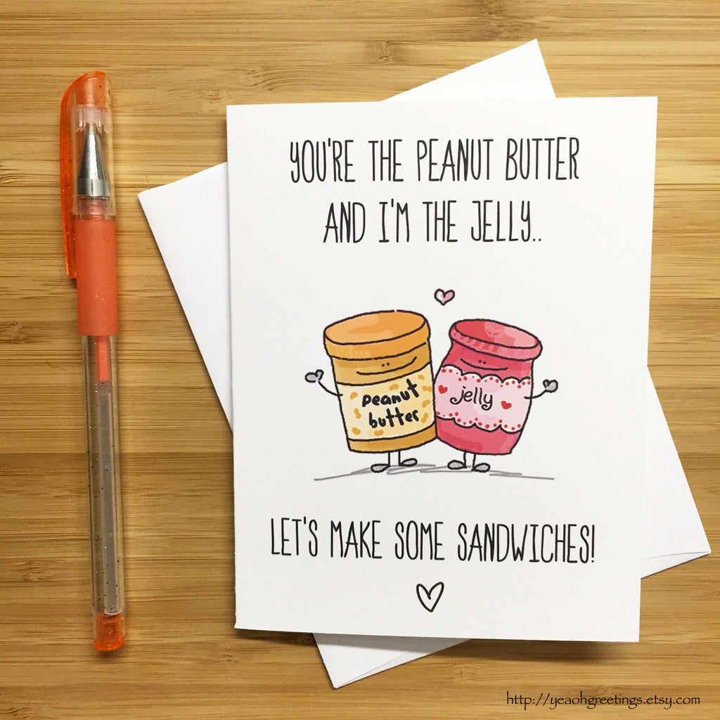 Cute PB&J Love Card