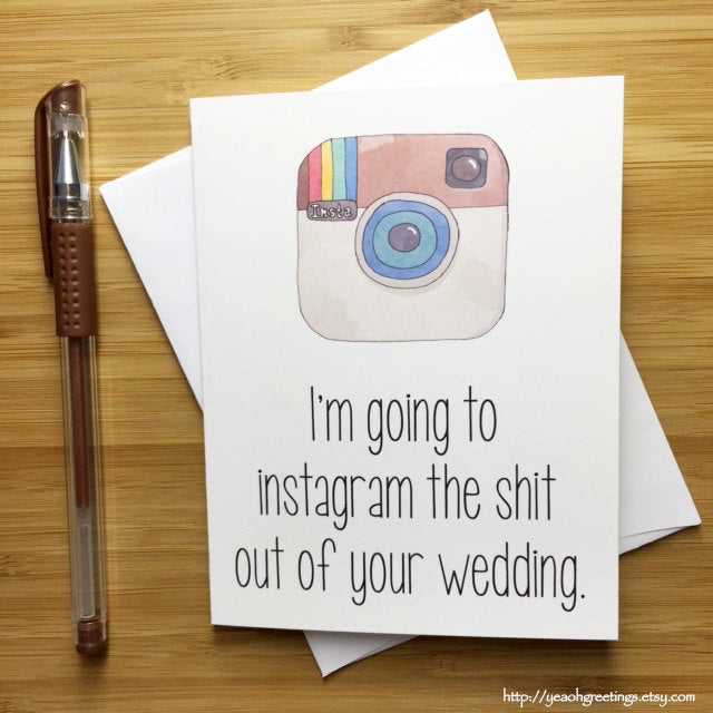 Funny Instagram Wedding Card