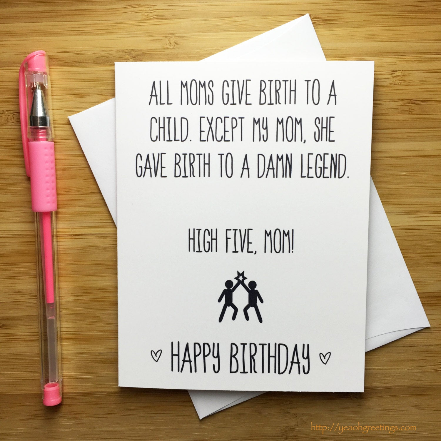 Funny Happy Birthday Mom Card