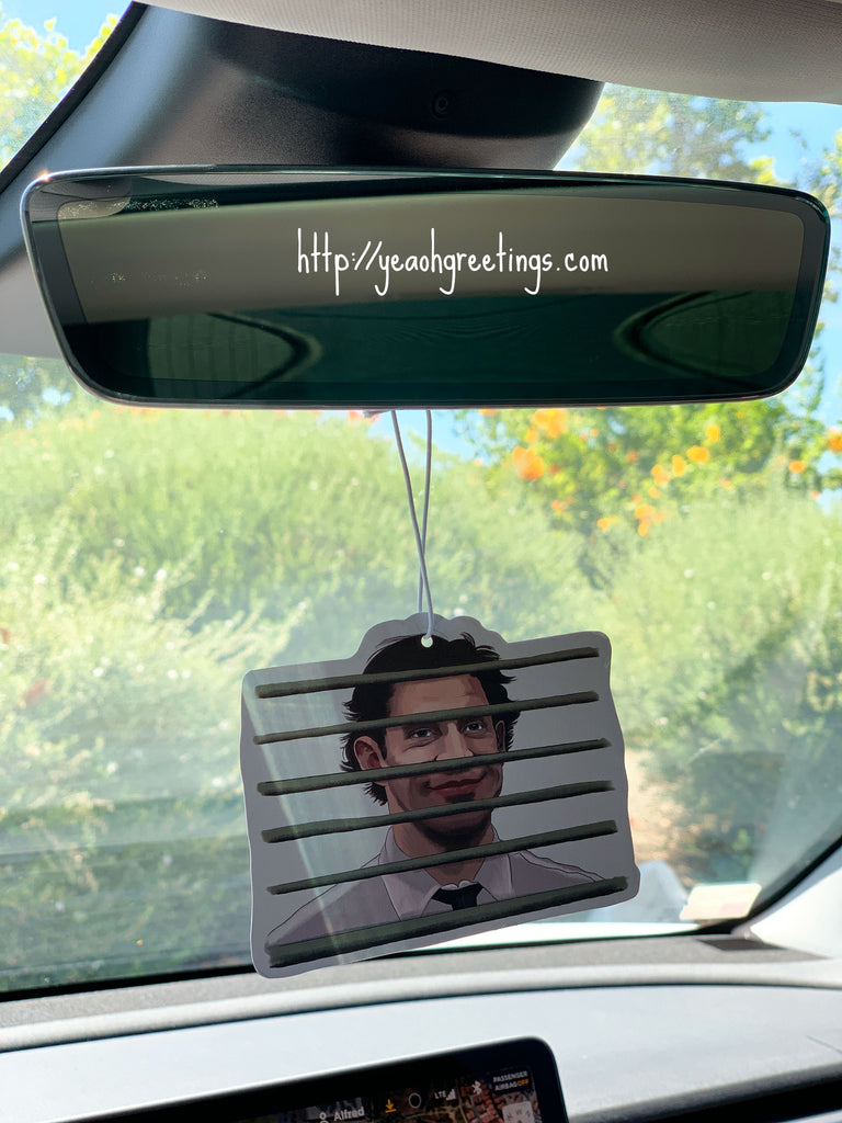 Office Jim Car Air Freshener