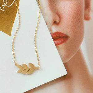 Morning Glory Leaf Necklace