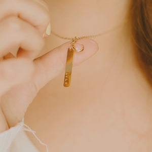 Vertical Gold Bar Necklace 2.0