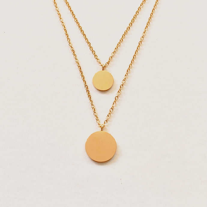 Corrine Layered Disc Necklace