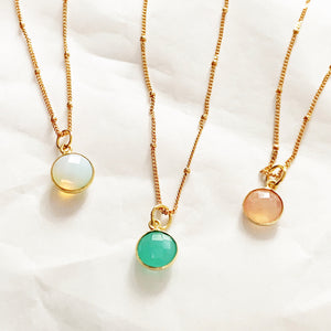 Amour Birthstone Necklace