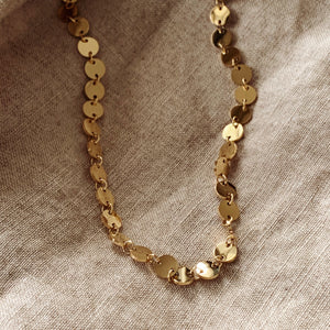 Piper Gold Coin Choker Necklace