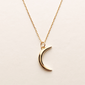Crescent Vermeil Necklace