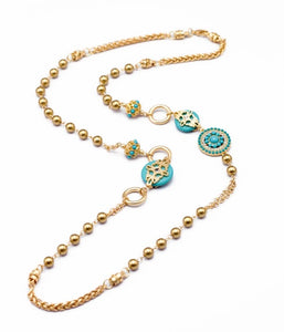 Chloe Turquoise Bead Necklace