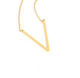 Goldtone Monogram Necklace