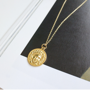 Vintage Roman Coin Vermeil Necklace