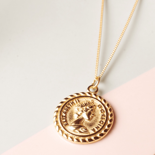 Reine Vintage Coin Vermeil Necklace