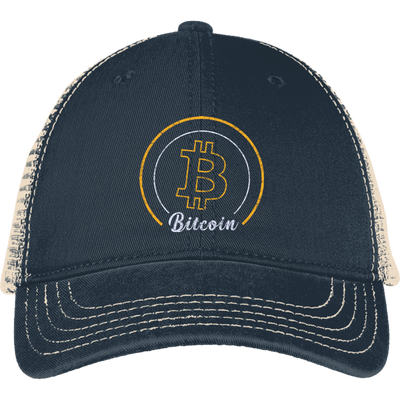 Bitcoin Mesh Back Cap - Retro