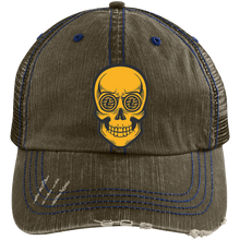 Load image into Gallery viewer, Litecoin Trucker Hat - Meshback LTC Hat Distressed