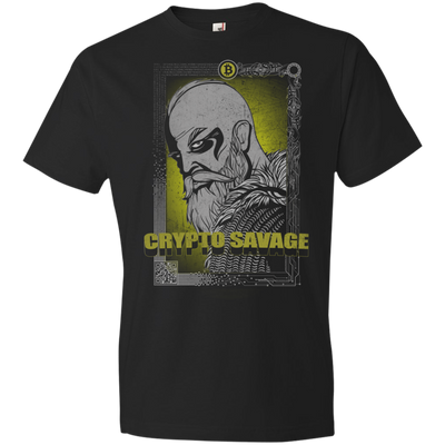 Crypto Savage Dark Bitcoin T-Shirt - Short Sleeve (Mens / Unisex)