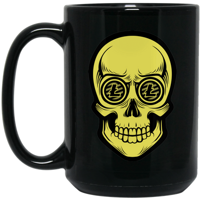 Litecoin Coffee Mug - Skull Eyes