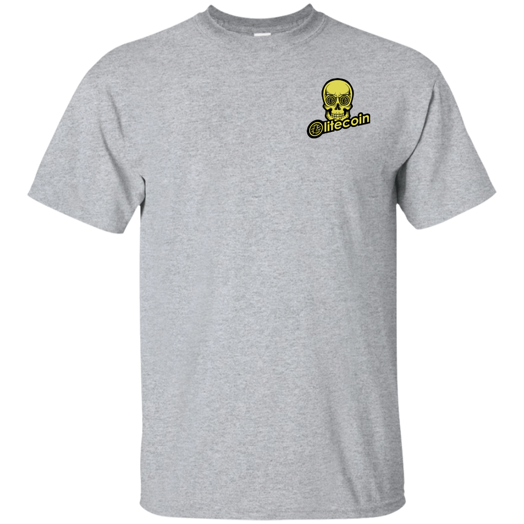 Litecoin T-Shirt - LTC Skull Eyes Chest