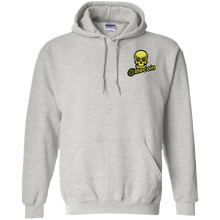 Load image into Gallery viewer, Litecoin Pullover Hoodie - LTC Skull Eyes Chest