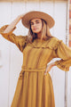Seed of Life Gaucho Dress in Gold