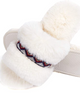 Rose Bohemian Fluff Slippers + Memory Foam