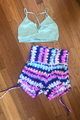 Space Tie Dye High Waist Short