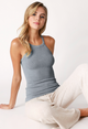 Highneck Ribbed Tank