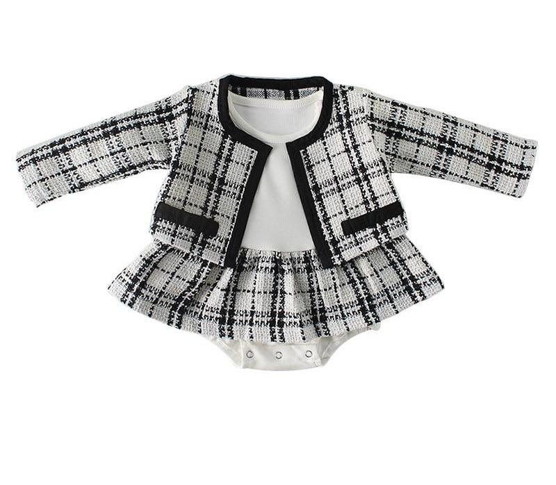 This lovely 2 piece set is a cardigan sweater and matching onesie for those times baby girl needs to be a little dressy. Baby girl clothes. Platinum Babies Store