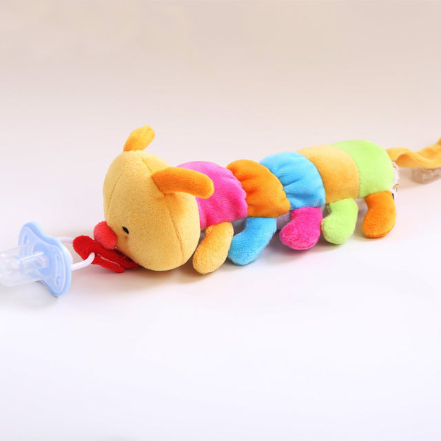 Plush Toy Pacifier Clip - Pacifier Included - 9 Styles