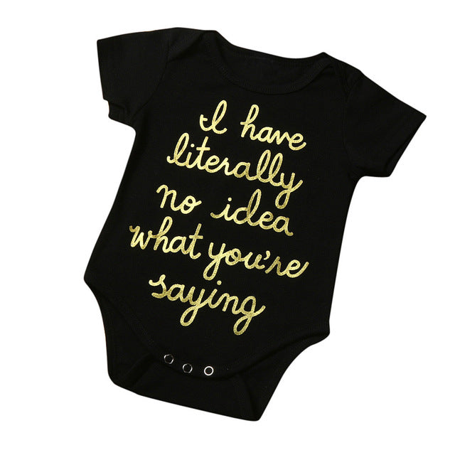 When your baby gives you that angelic smile as you baby babble. Cute onesie baby clothes. Platinum Babies Store.
