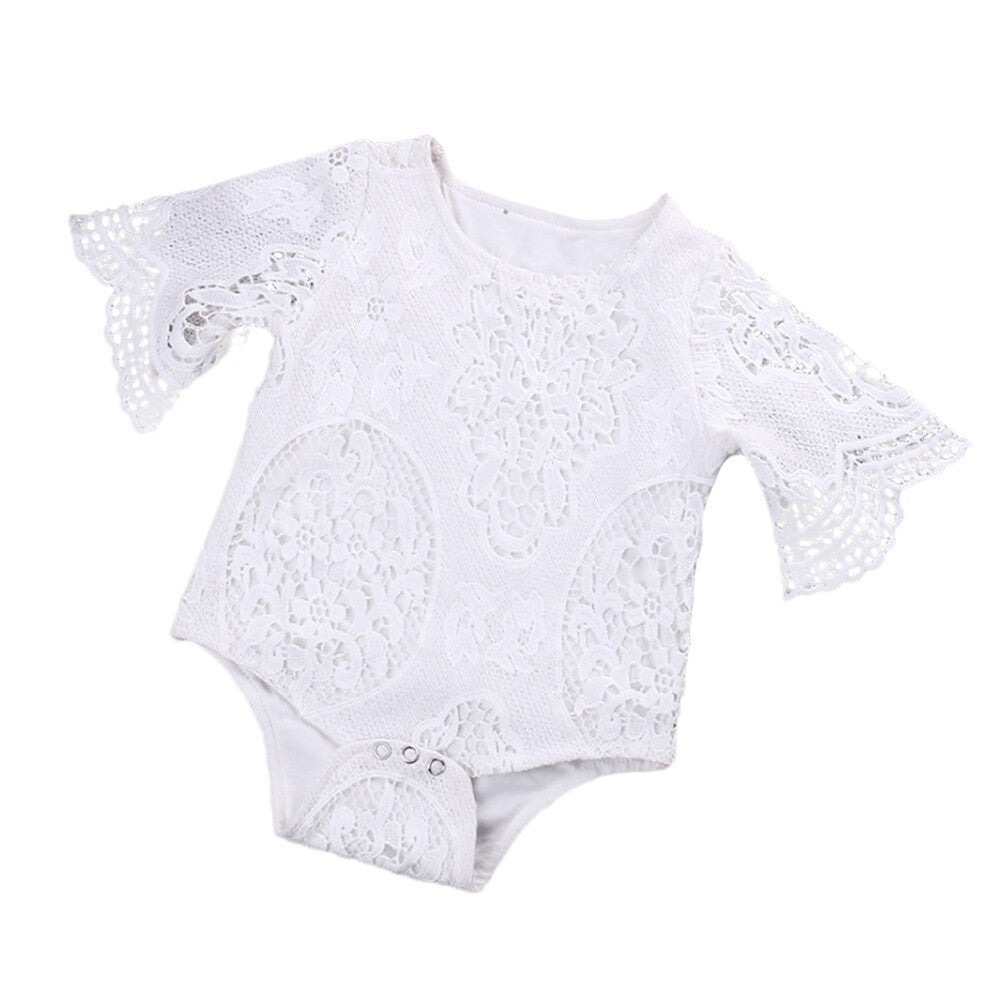 Angel Wing Onesie. Beautiful angel wing sleeve one piece top with 3 snap closures. Baby clothes. Platinum Babies Store.
