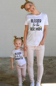 Mommy and Me Matching T-shirt - Blessed