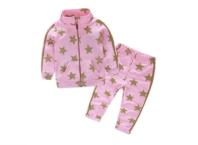 Show off your little girl's style in this cute 2 piece light weight set. Baby girl clothes. Platinum Babies Store