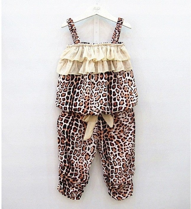 2pc Leopard Romper Set