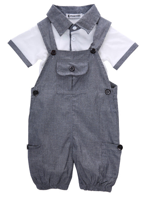 2pc Cotton Overalls Set