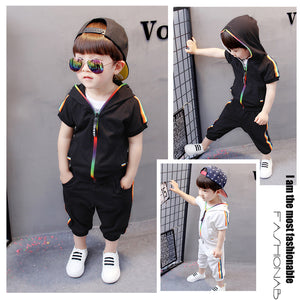 Children's Short Sleeve Track Suit