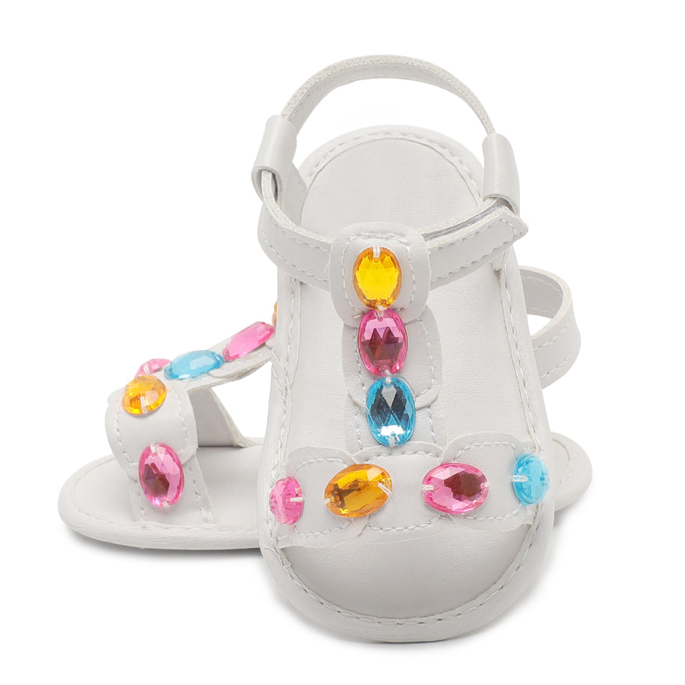 Girl's Gem Stone Pre-Walker Soft Sole Sandals