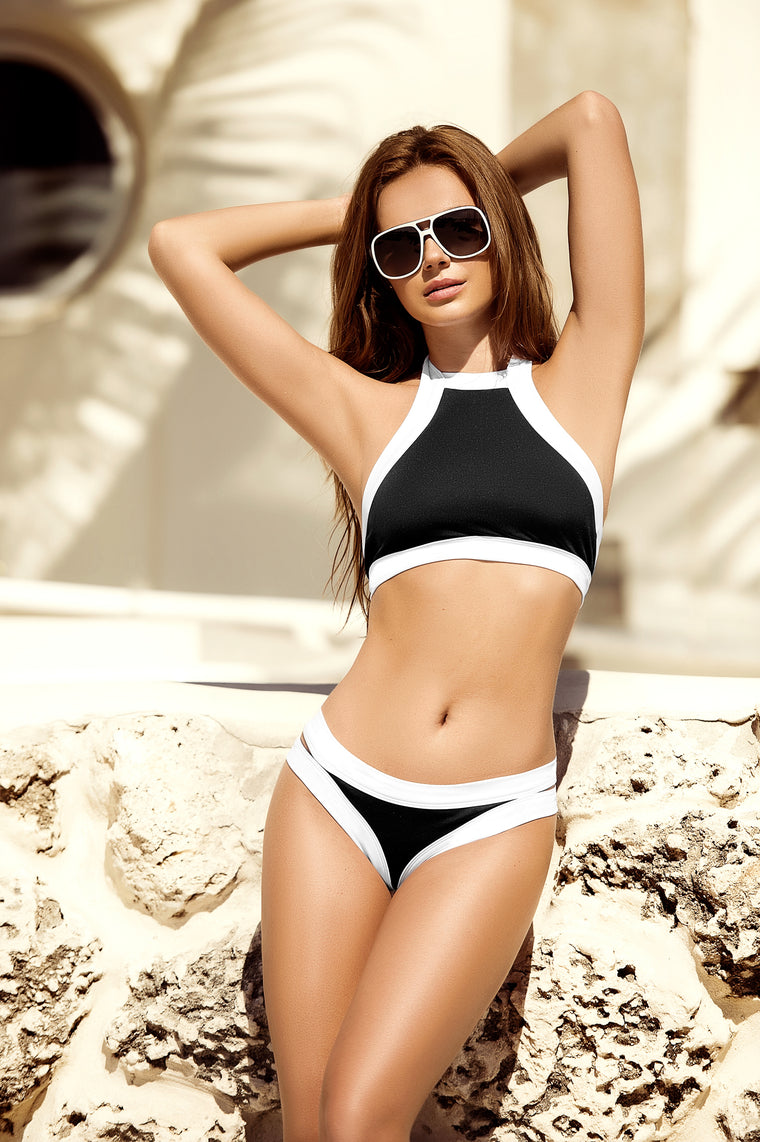 Black & White 2-PC Swimsuit