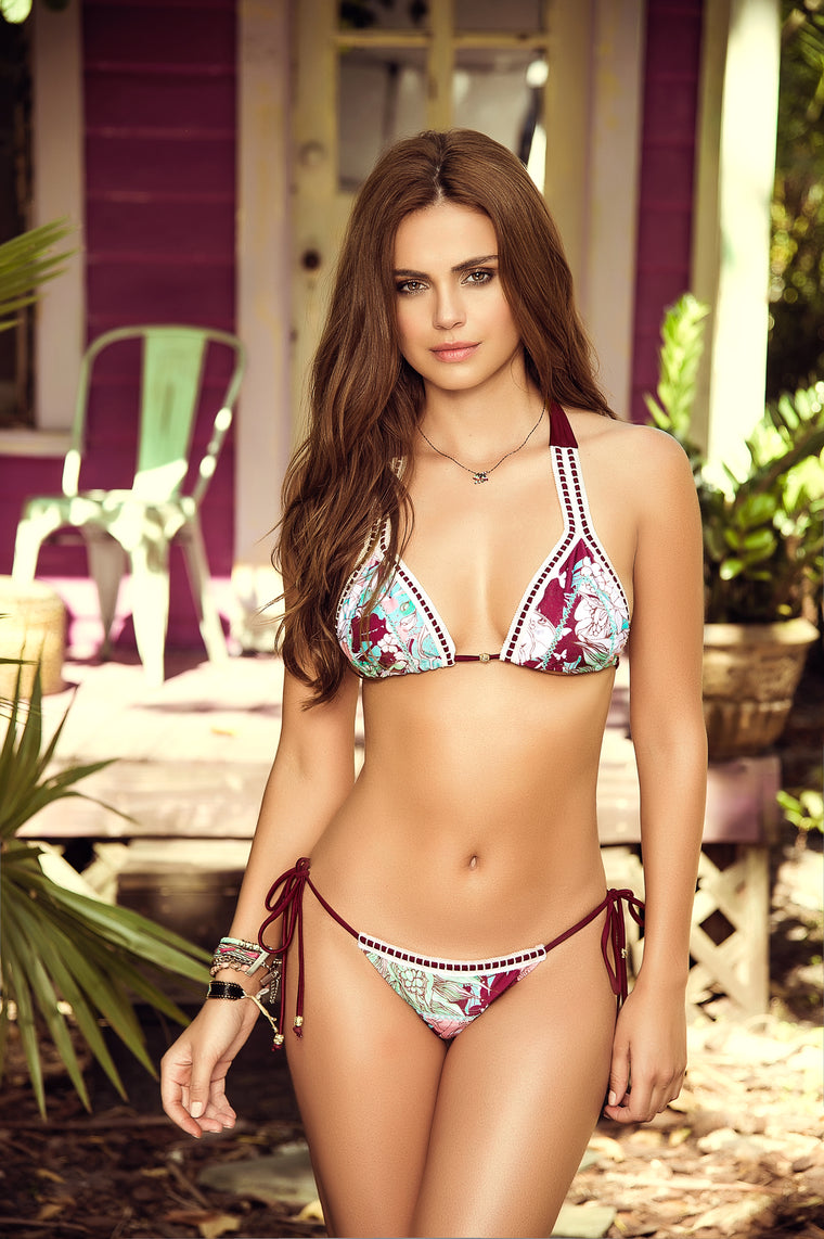 Rosewood Print 2-PC Swimsuit